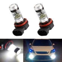 2x Led H11 H8 oświetlenie samochodu lampa przeciwmgielna żarówka dla FORD MONDEO MK3 MK4 C-MAX S-MAX FOCUS 01 + FUSION tanie tanio DOTAATDW CN (pochodzenie) Montaż Lamp przeciwmgielnych H11 3030SMD LED Aluminium 12 v Fog Light 2013 2014 2015 For FORD MONDEO MK3 MK4 C-MAX