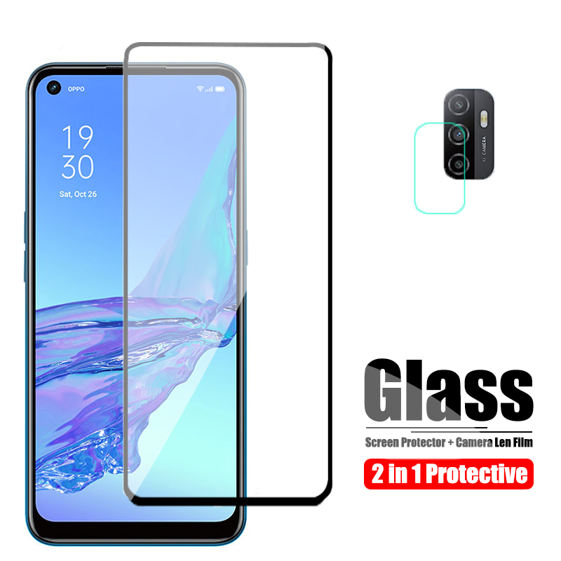for Oppo A53 Glass Protectve On for Oppo A52 Glass Screen Protector And Camera Len Glas OppoA53 A 53