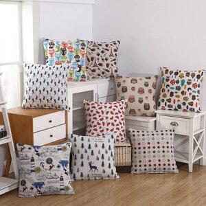 Linen weave Pillow Cushion Cover 40x40/45x45cm Cheaper Colourful Pliiowcas Home Decorative Kussenhoes Housse de Coussin Cojines(China)