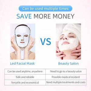 Image 5 - Mascarilla Facial con luz LED, 7 colores, rejuvenecimiento de la piel, tratamiento cuidado Facial, terapia antiacné, blanqueamiento