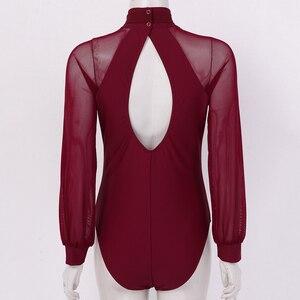 Image 4 - Women Adult Ballet Dance Bodysuit Long Sleeves Shirt Gymnastics Leotard Professional Ballerina Dance Costume Lyrical Dance Wear