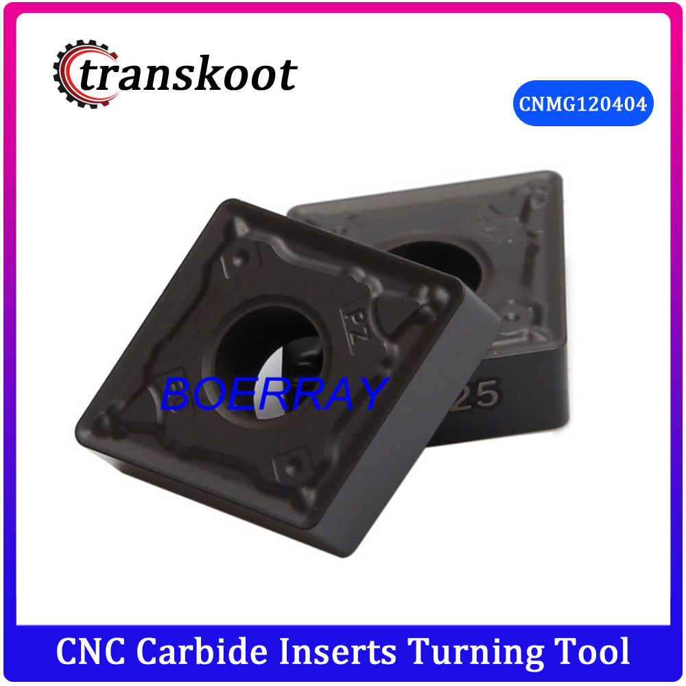 Tungsten Carbide Turning Inserts <font><b>CNMG</b></font> <font><b>120404</b></font> -PZ D2025 for Steel CNMG120404 Cutting Tool CNC Plate image
