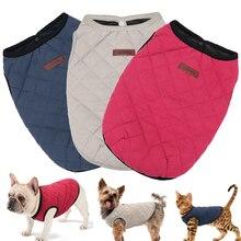 Французский для бульдога Чихуахуа Одежда для собак пальто зимняя одежда для питомца щенок кошка одежда куртка для маленьких и крупных собак Жилет для кошек Ropa Perro