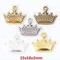 40 шт., популярные ювелирные украшения, Корона из цинка, сделай сам, браслет, колье, металлические украшения, 7646