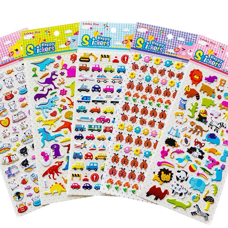 1 Sheet Kawaii Cat Dinosaur Zoo Vehicle Ladybug Adhensive Stickers DIY Stick Label Hand Account Decor Kids Gift Stationery