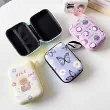 Storage Bag USB Charger Cable Data Line Organizer Pouch Mini Square Zipper Coins Storage Case Earphone Accessories