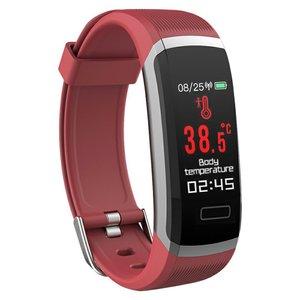 DT37 T6 Body Temperature Smart Bracelet Waterproof Fitness Tracker Heart Rate Monitor Sports Bracelet Smart Watch For Phone