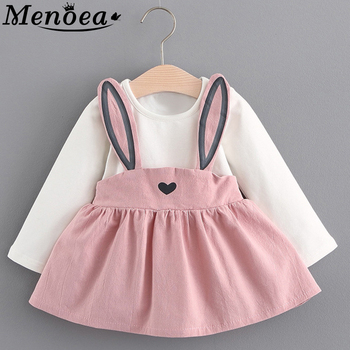 Menoea  New Autumn Style Newborn Baby Girl Clothing Set Infant Rabbit Ears Suit Babies Girl