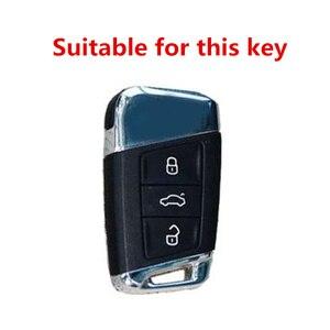 Image 4 - Высококачественный матовый чехол из углеродного волокна для автомобильного ключа для Volkswagen Polo Golf Skoda Superb A7 Passat Beetle аксессуары для интерьера