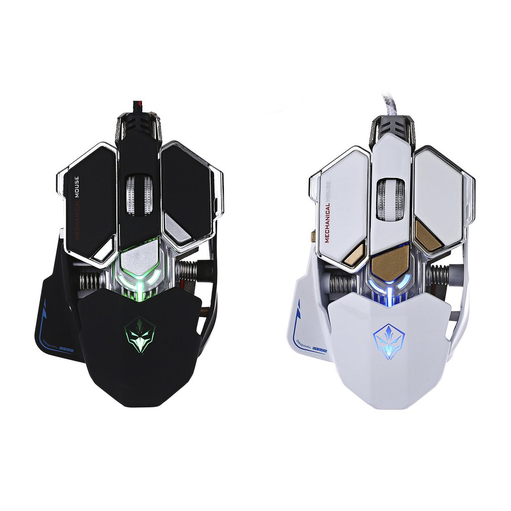 G10 10D 4000DPI Optical USB Wired Game Mouse 10 Buttons Mechanical Metal Stylish Mouse For Gaming Contest Computer Mouse