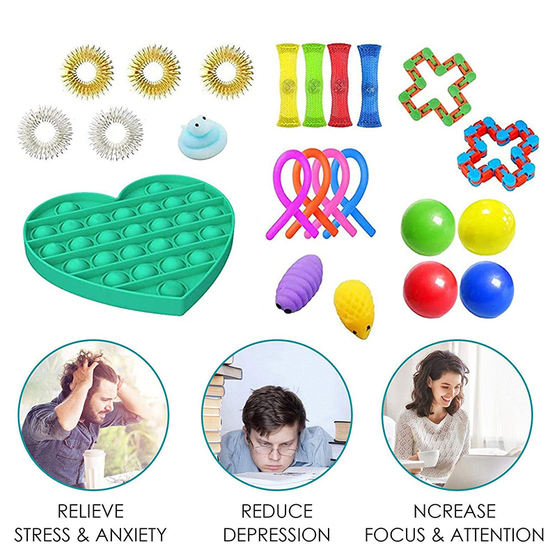 Sensory Toys Set Fidget Toys for Kids and Adults Relieves Stress Special Need Toys Assortment img2