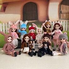 BJD Doll Handmade Joints Animal-Suit Rabbite-Dress 30CM Girl 15 with Make-Up DIY Best