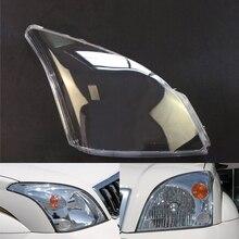ไฟหน้ารถสำหรับ Toyota Prado 2003 ~ 2009เปลี่ยนด้านหน้าโปร่งใส Auto Shell