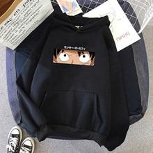 Kawaii quente anime japonês uma peça hoodies homem harajuku engraçado dos desenhos animados luffy zoro gráfico com capuz hip hop tops camisolas masculino