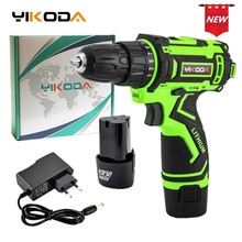 YIKODA 12V Electric Drill Rechargeable Lithium Battery Parafusadeira Furadeira Double Speed Cordless Drill DIY Power Tools стоимость