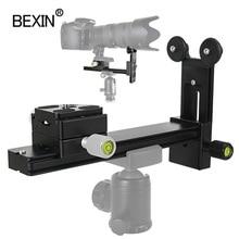 Soporte de lente de teleobjetivo adaptador de montaje de placa de liberación rápida abrazadera de lente de cámara soporte para rótula de bola de trípode de cámara
