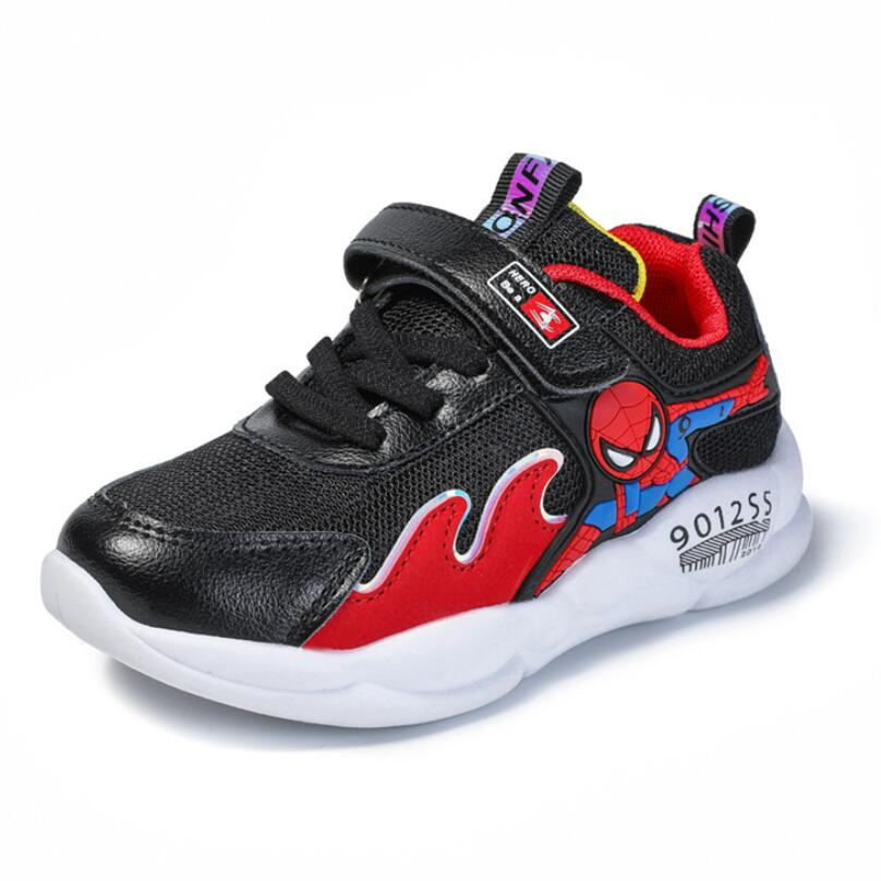 Spring Autumn New Kids Lightweight Casual Shoes Children Boys Girls Sneakers Toddler Spiderman Sport Running Breathable Shoes