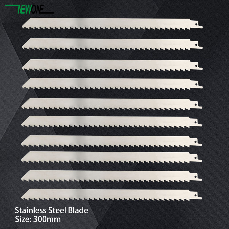 Image 4 - 300mm Stainless Steel Blade for jig saw reciprocating saw power tool accessories saw blades for frozen meat and bone cutting-in Saw Blades from Tools