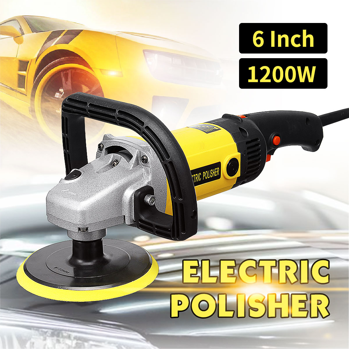 1200W Grinder Mini Polishing Machine Car Polisher Sanding Machine Orbit Polish Adjustable Speed Sanding Waxing Power Tools 110V