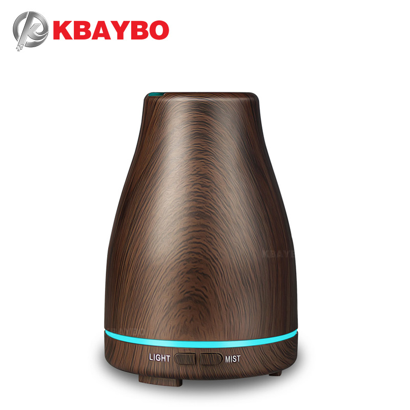 2018 New KBAYBO Aroma Essential Oil Diffuser Ultrasonic Cool Mist Humidifier Air Purifier 7 Color Change LED  Light For 120ml