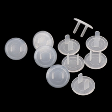 10pcs US Child Safety Electrical Outlet Cover Plugs for Power Socket Guard Baby Protection Anti Electric Shock Rotate Protector