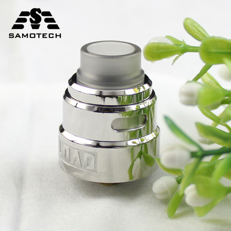 Newest  SXK Reload S RDA Vaporizer 24MM Atomizer Tank Adjustable Airflow Dual Coil RDA For E-Cigarette Mod Vs V24 RtA Gtr Drop