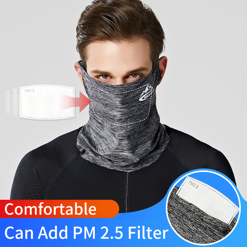 Multi Functional Ice Silk Mouth Face Mask Sunscreen Cap Scarf Outdoor Summer Cycling Bicycle Sportswear Accessories