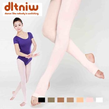 Kobiety pończochy wysokiej talii Plus rozmiar rajstopy taniec zakolanówki rajstopy miękkie elastyczne Collant baletowy dla dorosłych strzemię rajstopy tanie i dobre opinie DLTNIW WOMEN CN (pochodzenie) XC-4822 AUTUMN