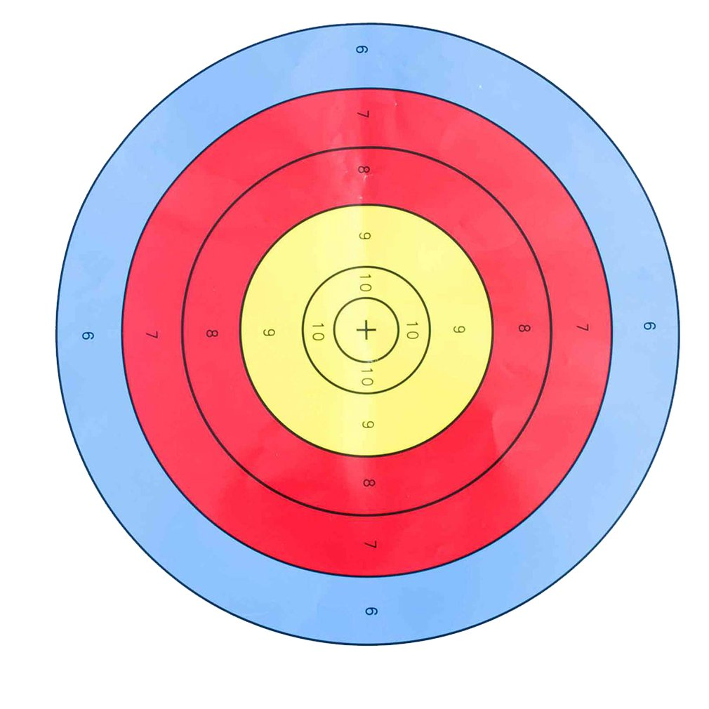 10pcs 40x40cm Archery Target Faces For Bows & Crossbows Heavy Gauge Soft Paper Dart Board Shooting Hunting Supplies