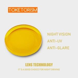 Image 2 - Toketorism Recept Zonnebril Gele Lenzen Nachtzicht Voor Mannen Vrouwen Gekleurde Lenzen Voor Ogen YS001