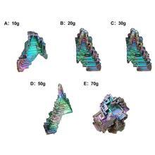 Различные формы Радужный Титан висмут образец минеральный драгоценный камень красочный кристаллический кварц для украшения дома сада