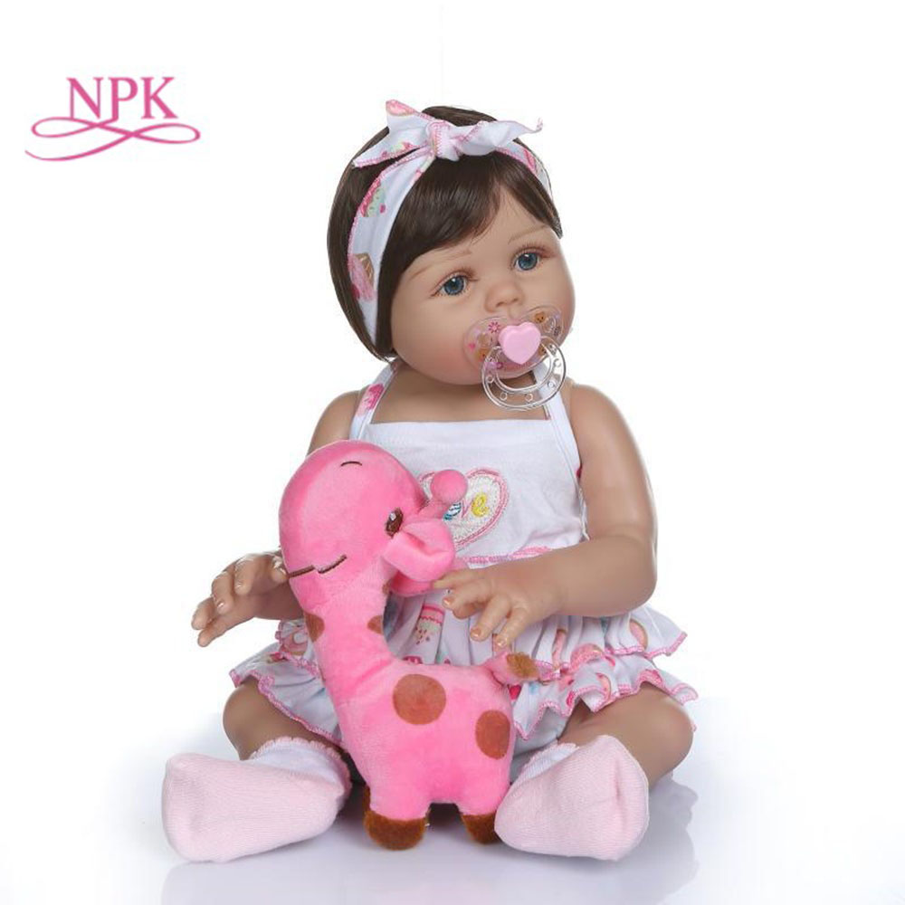 NPK 48 cm simulation baby body silicone toy accessories deer doll pacifier bottle