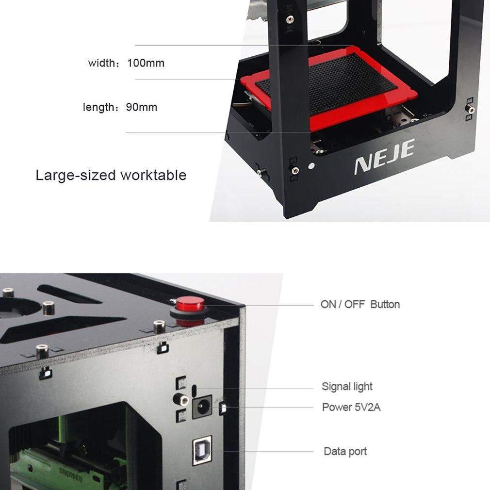 NEJE nowy 1000mW DIY USB Mini USB laserowa maszyna grawerująca automatyczna frezarka do drewna CNC grawer laserowy drukarka Cutter maszyna do cięcia