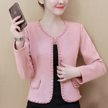 Womens Jackets Coats Long-Sleeve Pink Black White Plus-Size And A963 Fashion 4XL 3XL
