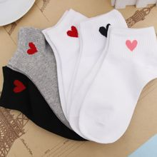 Heart Cotton Invisible Short Woman Sweat summer comfortable cotton girl womens boat socks ankle low female 1pair=2pcs