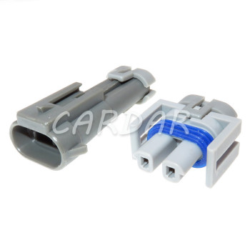 1 Set Automotive 2 Pin Auto Harness Connector Compressor Air Conditioner Socket For Buick Chevrolet image