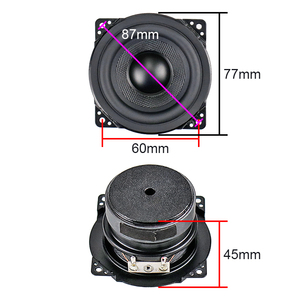 Image 2 - Ghxamp 3 אינץ מלא טווח רמקול 8ohm 15W וופר 77mm רמקול גומי קצה ארוג אגן עבור 2.0 Surround רמקול 2PCS