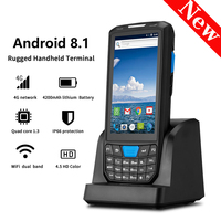 IssyzonePOS Handheld PDA Android 8.1 Rugged POS Terminal 1D 2D Barcode Scanner WiFi 4G Bluetooth GPS PDA Bar codes Reader