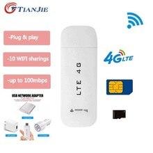 TIANJIE – Mini clé USB 3G/4G LTE débloquée, Dongle de données réseau sans fil pour Modem de voiture, Dongle avec fente pour carte Sim