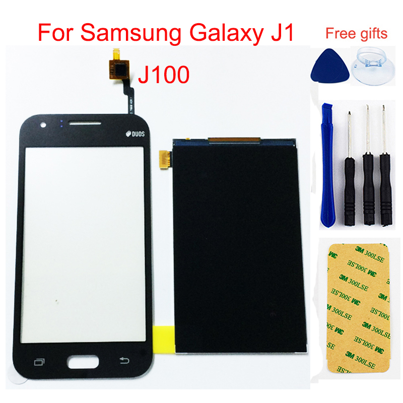 <font><b>LCD</b></font> Für <font><b>Samsung</b></font> Galaxy J1 <font><b>LCD</b></font> Display <font><b>J100</b></font> SM-J100F J100FN <font><b>LCD</b></font> Touch J100H/DS <font><b>LCD</b></font> Display Panel + Touch Screen Digitizer image