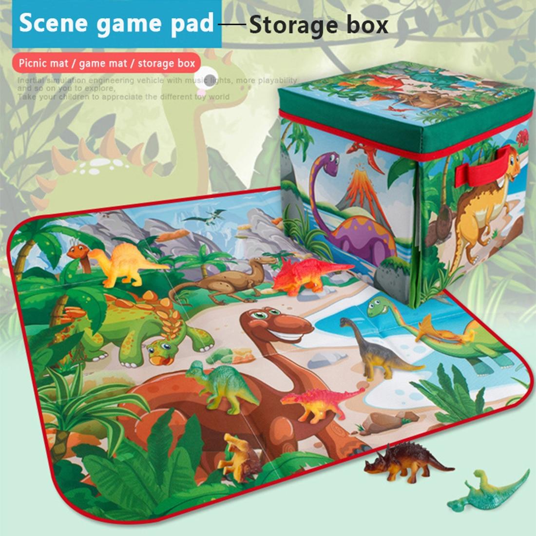 2 в 1 складной ящик для хранения динозавров сцена Ползания коврик Имитация Динозавра модель обучающая игрушка Рождественский подарок для де... - 2