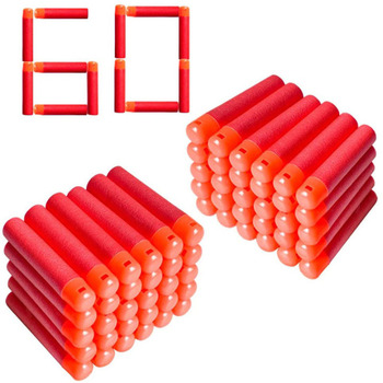 60/120Pcs/Lot 9.5cm Red Sniper Rifle Darts Bullets for Nerf Mega Kids Toy Foam Refill Darts Big Hole Head Bullets Christmas Gift image