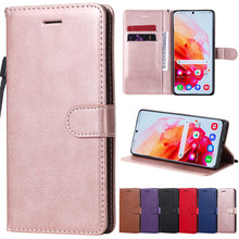 PU Wallet Soft Case For Samsung Galaxy Note 4 8 9 10 20 S5 S6 S7 Edge S8 S9 S10 E S20 FE S21 Puls Ultra Flip Phone Cover Bag