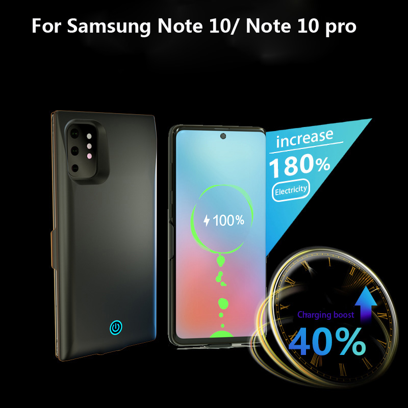 Cep telefonları ve Telekomünikasyon Ürünleri'ten Pil Şarj Kılıfları'de Pil samsung kılıfı Galaxy Note 10 7000mah güç bankası şarj samsung kılıfı Galaxy not 10 pro pil şarj cihazı durumda title=