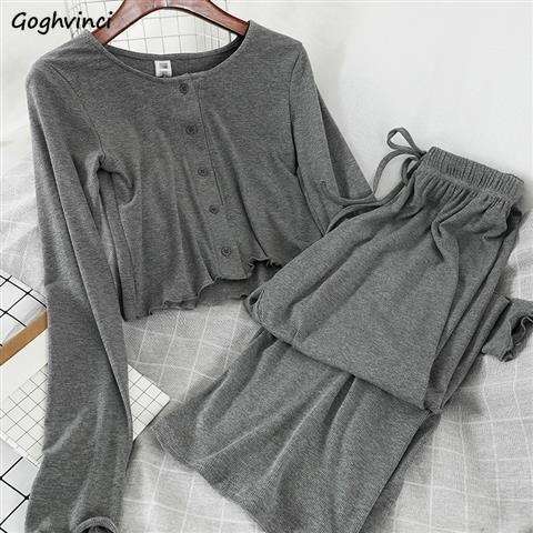 Women Sets Long Sleeve Slim Short Style Plus Size 5XL Loose Clothes Drawstring Floor-length Trousers Womens OL Chic New Arrival