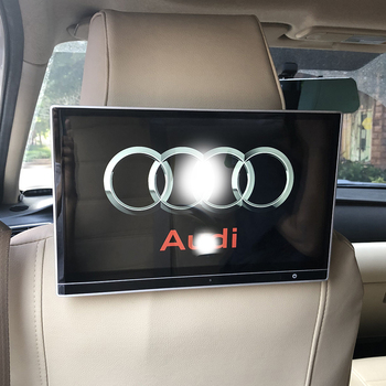 NEW Car UI Style 12.5 Inch Auto Pillow Monitor Headrest LCD Android 9.0 With HDMI Wifi Bluetooth USB Video Player For Audi A6