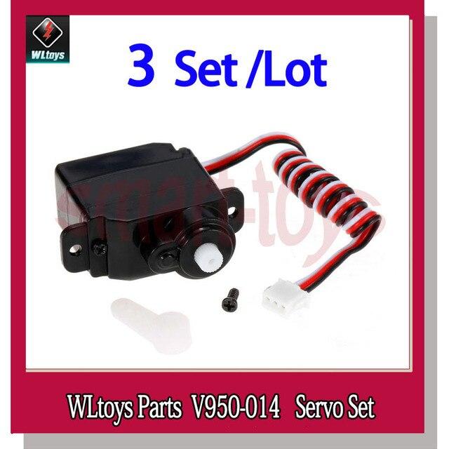 3 zestaw V950 oryginalny serwo V950 014 dla WLtoys V950 6CH części zamienne do zdalnie sterowanego helikoptera