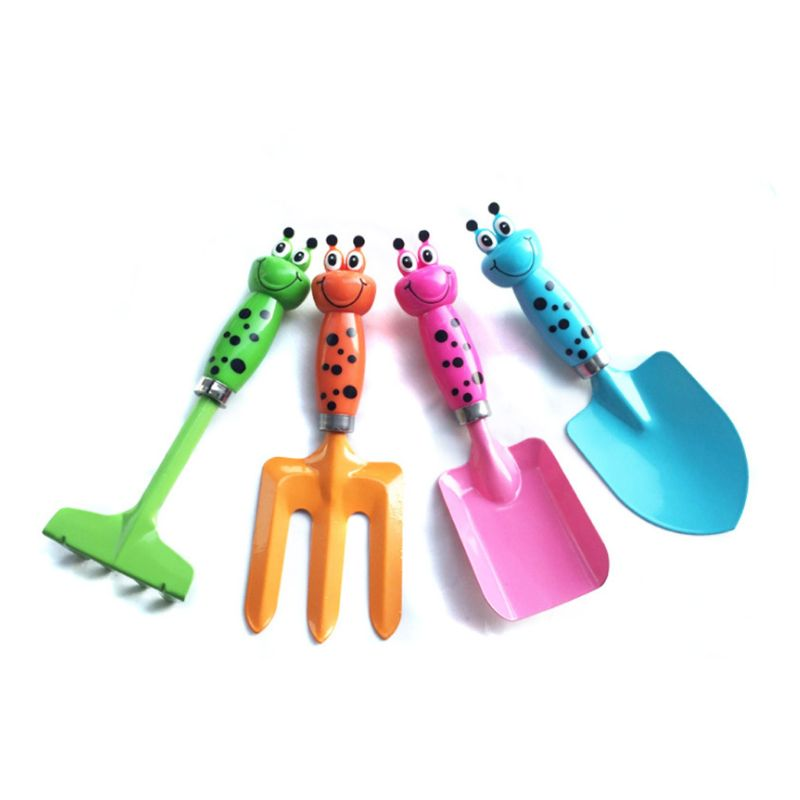 Beach Sand Toys 3/4pcs Mini Harrow Shovel Rake Gardening Tools Set Plants Flower Pot Maintenance
