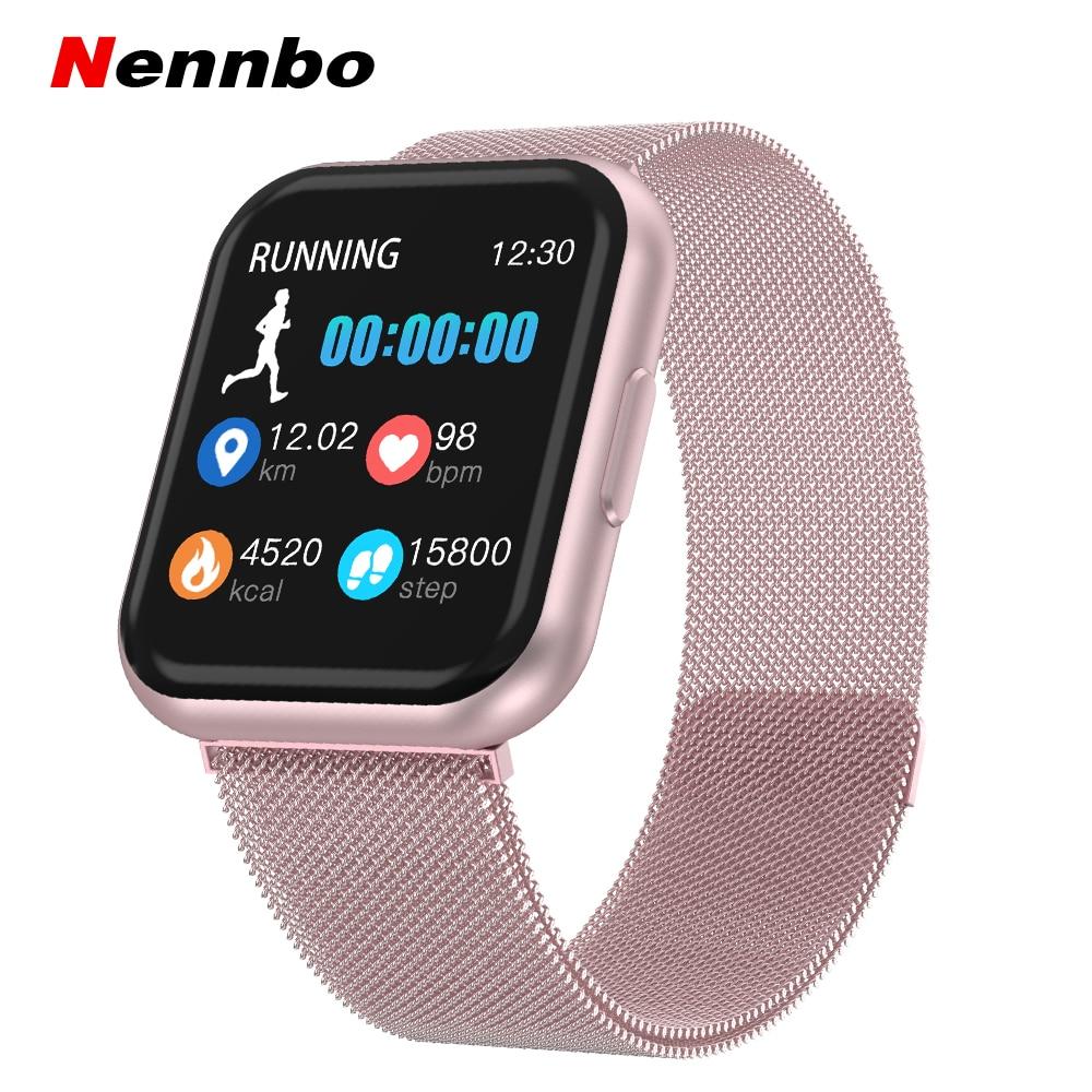 T88 Smart Uhr Männer Frauen Herz Rate Erkennung Sport Schrittzähler Full Touch Screen Bluetooth Smartwatch Für iphone Huawei telefon-in Smart Watches aus Verbraucherelektronik bei title=