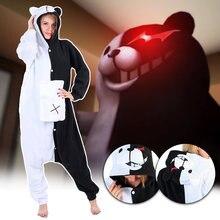 Черный белый медведь животный домашняя одежда danganronpa monokuma